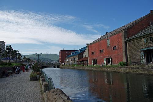 小樽運河と赤レンガ