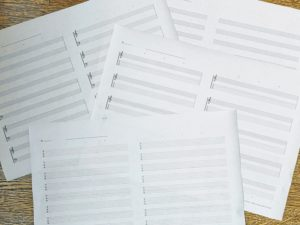 A3楽譜用紙