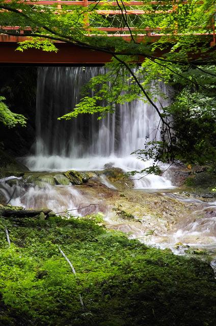 糸引く滝に挑戦